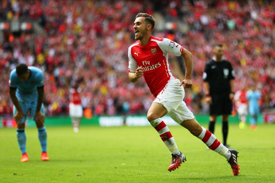 Ramsey fa festa. Getty