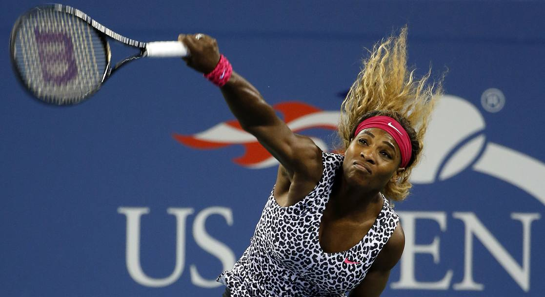 Top leopardato per Serena Williams, in campo all'esordio contro la connazionale Townsend. AP