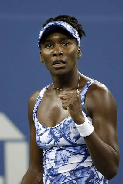 Inserti colorati per Venus Williams. AP