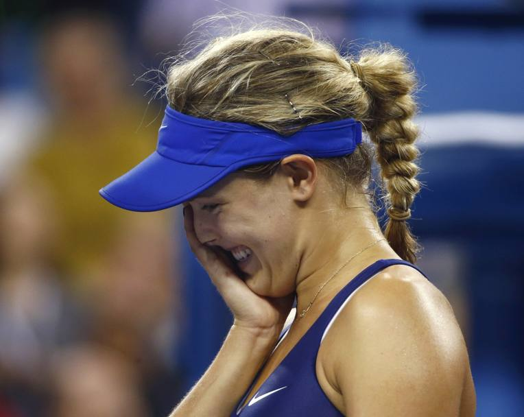 E la commozione di Eugenie Bouchard al termine del match. Reuters