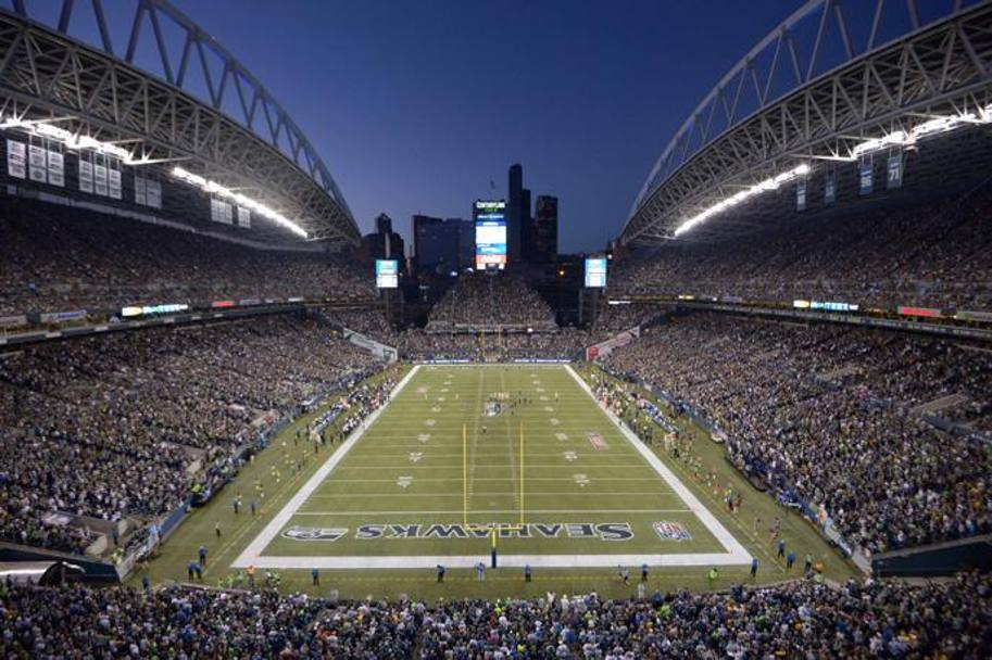 Un'immagine suggestiva del CenturyLink Field di Seattle (Reuters)