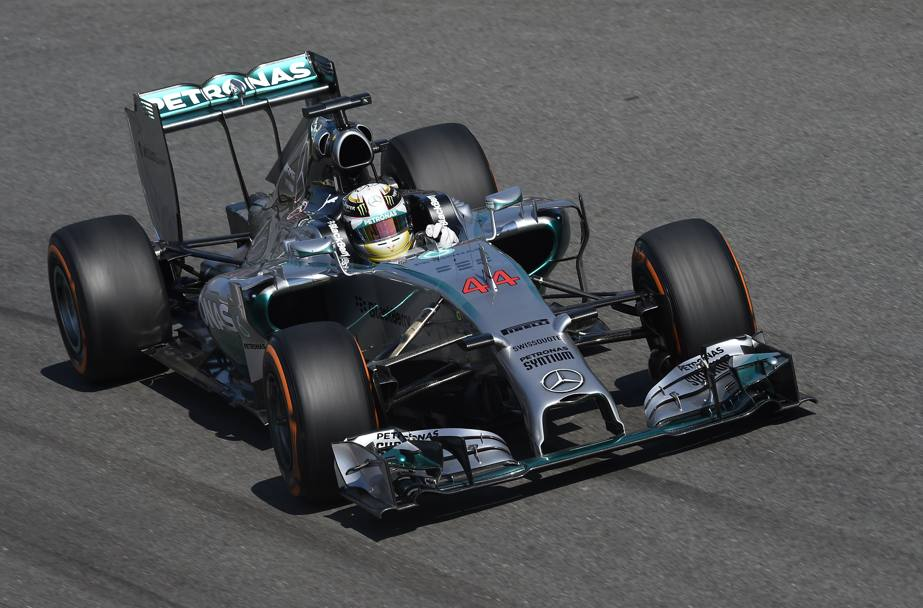 Lewis Hamilton, in pole a Monza. Colombo
