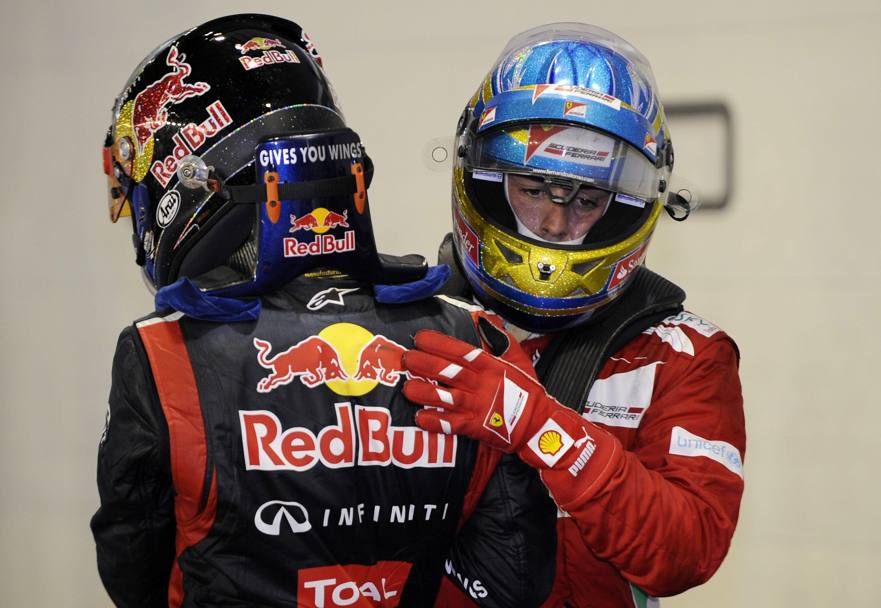 Singapore 2012: Alonso è 2° dietro a Vettel, che in classifica non molla. Epa