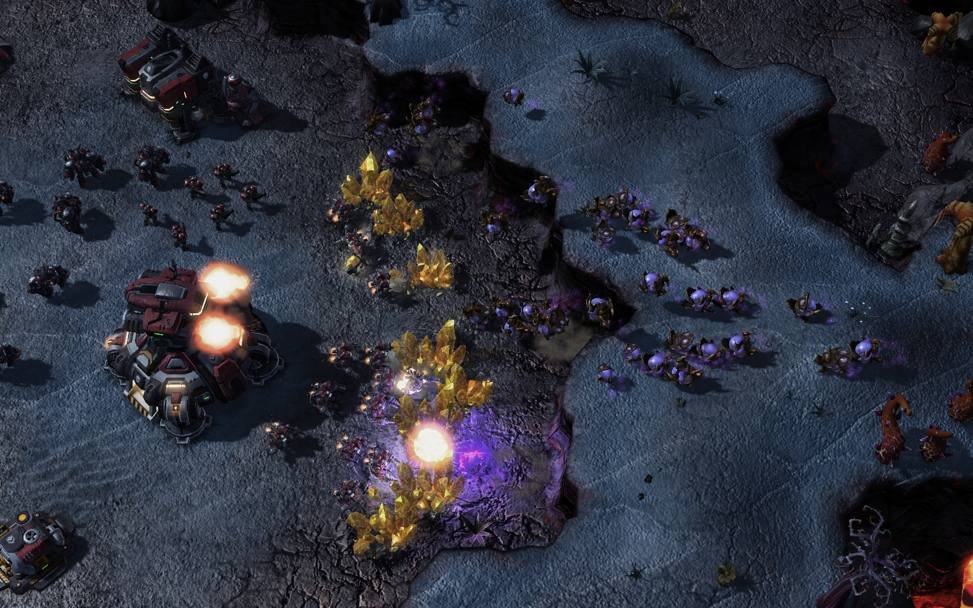 Uno screenshot da StarCraft II