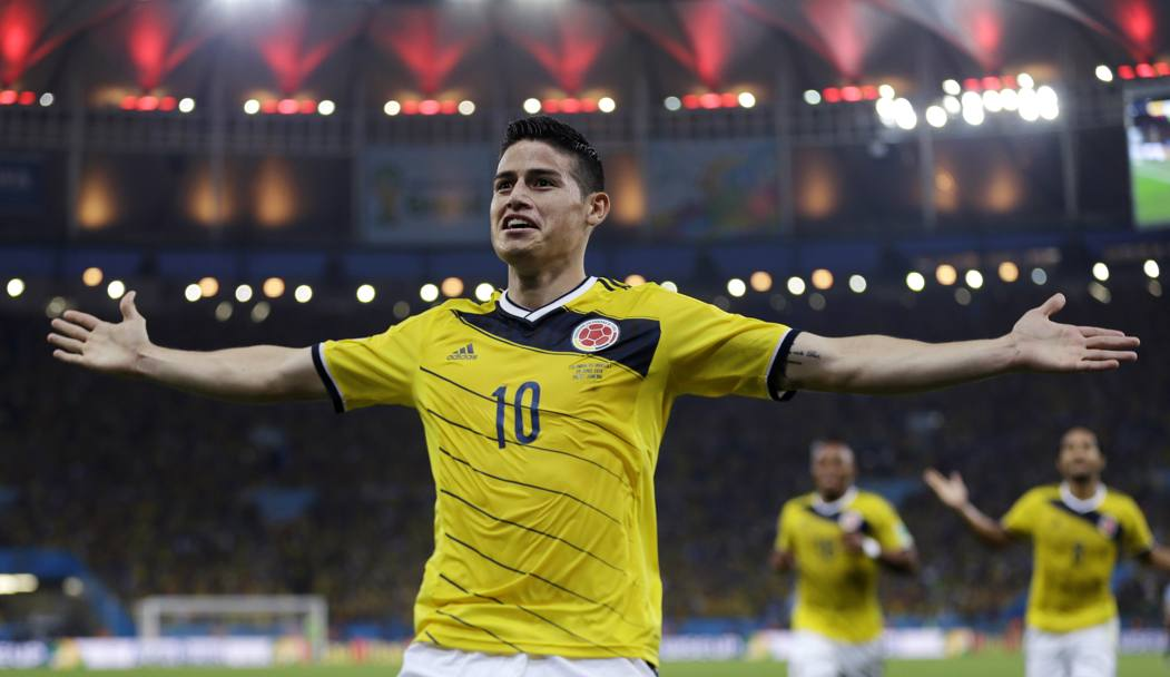 Il colombiano James Rodriguez, passato quest'estate dal Monaco al Real Madrid. Ap