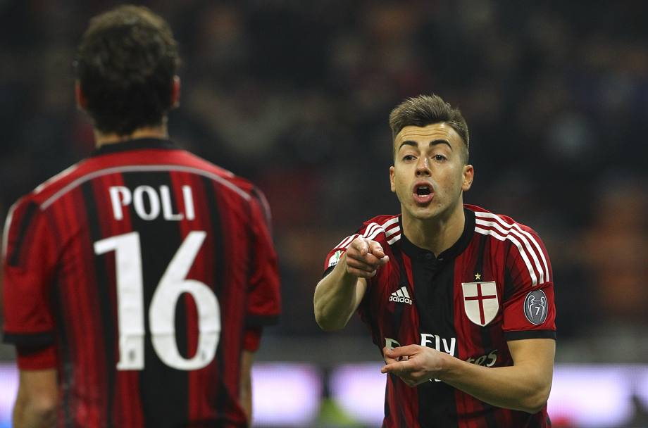 El Shaarawy ha qualcosa da dire a Poli. Getty