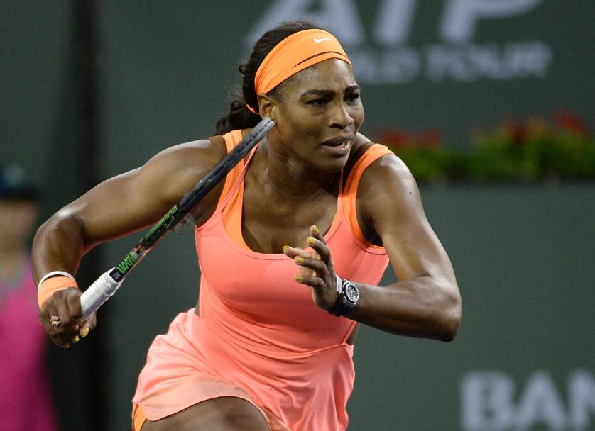 Serena Williams ritorna a Indian Wells dopo 14 anni sconfiggendo la romena Monica Niculescu 7-5 7-5 (Reuters)