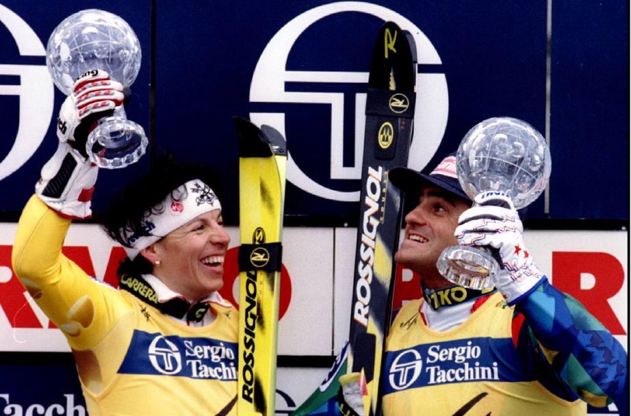 Sul podio i vincitori della Coppa del mondo  Alberto ... 93947d27c24