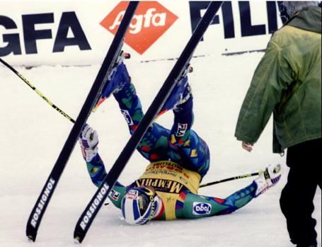... 18 marzo 1995  la gioia incontenibile di Alberto Tomba all  39  ... 7507acf8a97