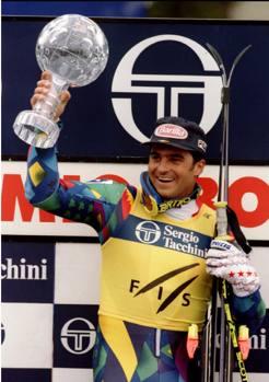Alberto Tomba conquista la Coppa del mondo assoluta 78e2322cab1