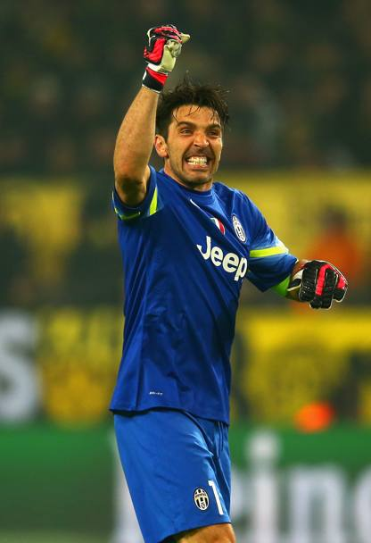 L'esultanza di Buffon. Getty