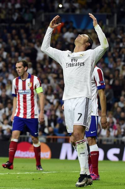 CR7 si dispera dopo un'occasione fallita. Afp