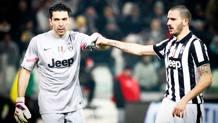 Gigi Buffon e Leonardo Bonucci. Lapresse