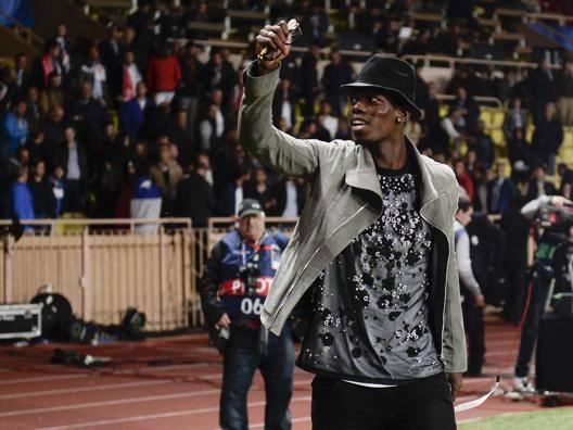 Paul Pogba, 22 anni, festeggia la qualificazione alle semifinali di Champions. LaPresse