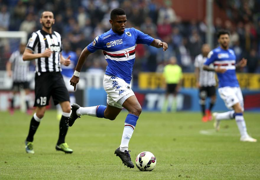 Eto'o in azione. Action Images