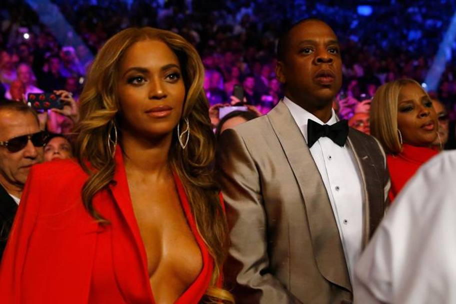 Beyonce con Jay Z. Afp
