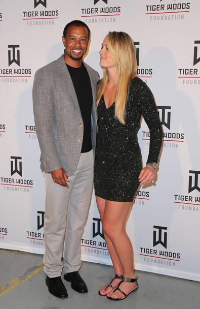 Lindsey Vonn e Tiger Woods risalente dal