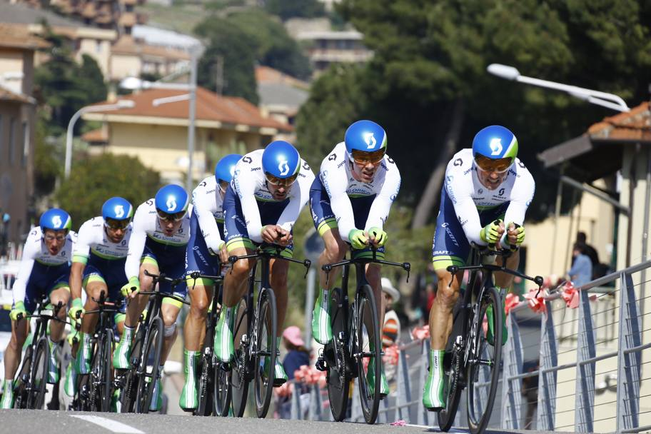 L'australiana Orica GreenEdge era la grande favorita di giornata. Bettini