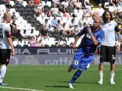 Simone Zaza, autore del gol del 2-1 che ha aperto la rimonta del Sassuolo. LaPresse