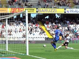 Defrel segna il gol dell'1-0. LaPresse