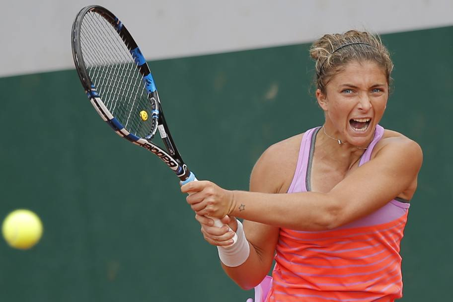 Sara Errani ha brillantemente piegato stamattina la tedesca Witthoeft in tre set: 6-3 4-6 6-2 (Ap)