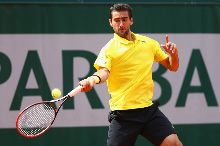 Marin Cilic in azione (Getty Images)