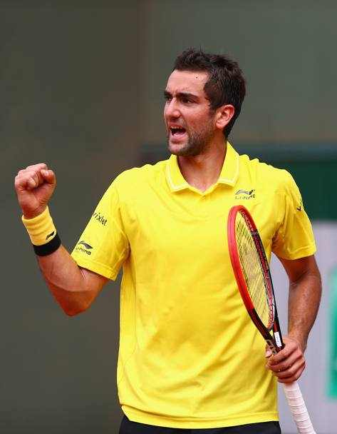 L'esultanza di Cilic (Getty Images)