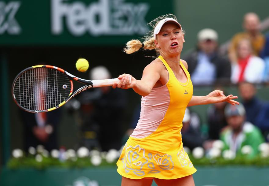 Caroline Wozniacki in azione (Getty Images)