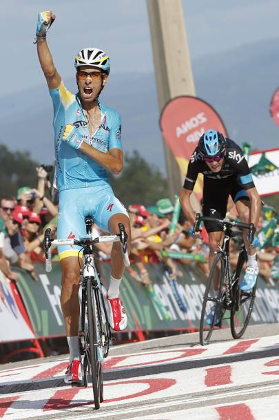 Aru riesce a mettersi alle spalle un gigante come Chris Froome (Sky), re del Tour 2013. Bettini