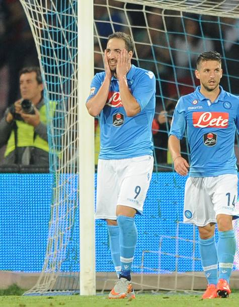 La disperazione di Higuain. Getty