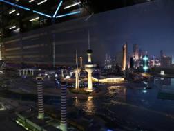 L'interno del padiglione del Kuwait