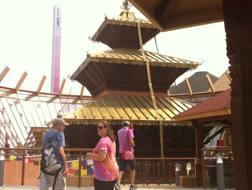 Il padiglione Nepal completato. Omnimilano