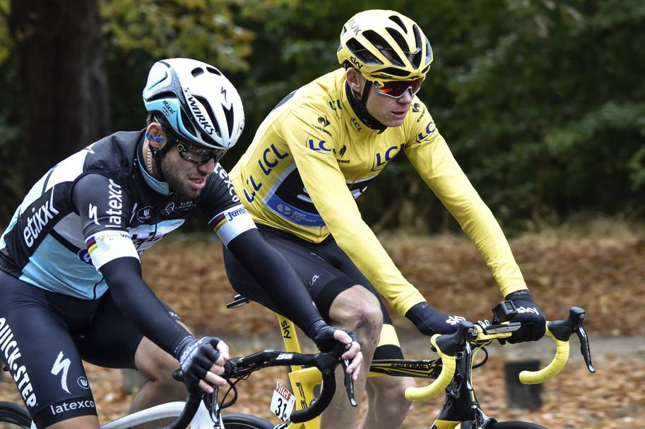 Froome e Cavendish. Afp