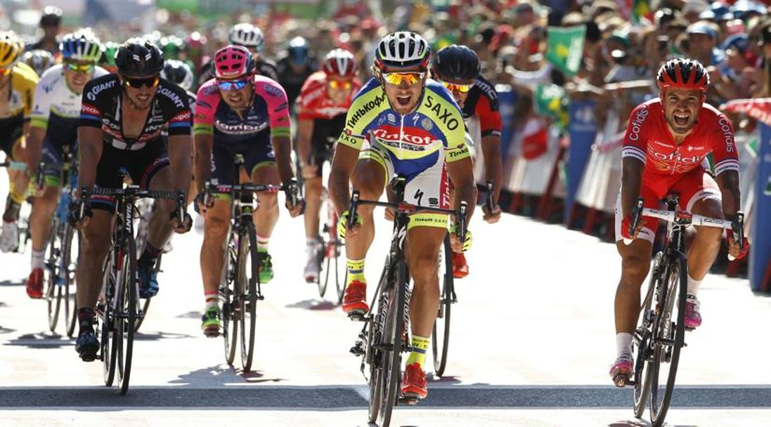 Lo sprint vincente di Peter Sagan. Afp