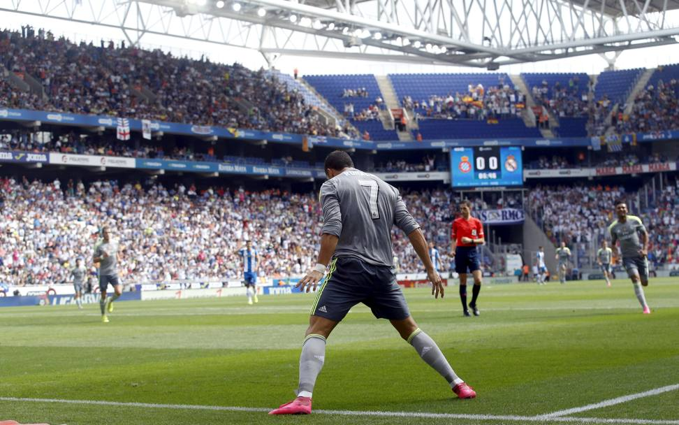 L'esultanza di CR7 (Reuters)