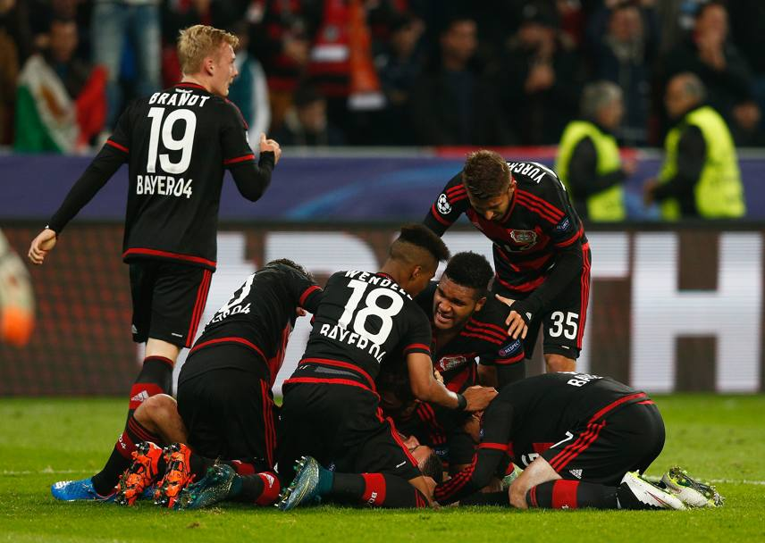 L'esultanza del Bayer Leverkusen. Getty