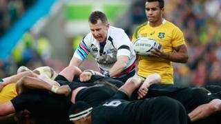 Nigel Owens durante la finale. Getty Images