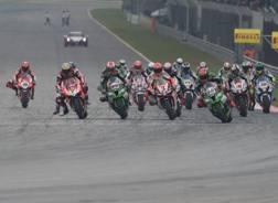 Una partenza della Superbike in Malesia. Getty