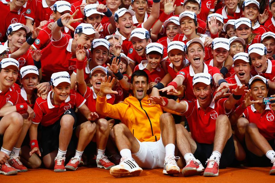 Il re di Montecarlo? Novak Djokovic, naturalmente... Getty