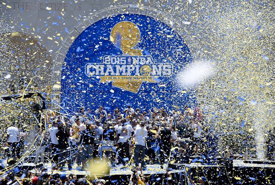 La Nba è vinta dai Golden State Warriors. Afp