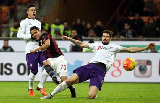 Milan-Fiorentina la sblocca Carlos Bacca al 4  39  con un gran gol ... b682c49d27bcd