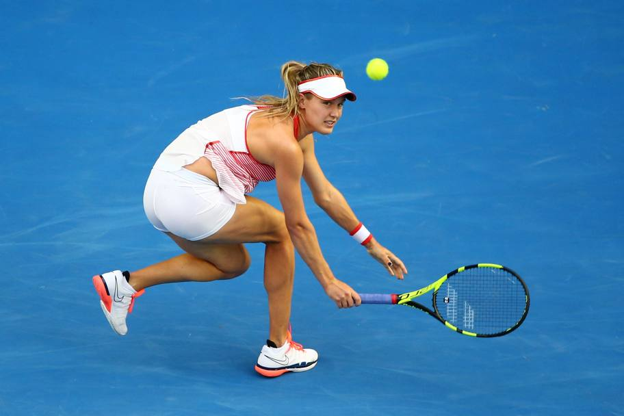 Eugenie Bouchard vs Agnieszka Radwanska. (Getty Images)