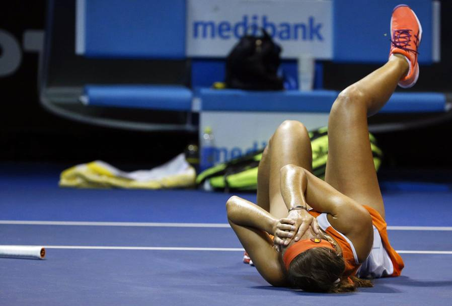 Monica Puig in lacrime: ha vinto. Epa