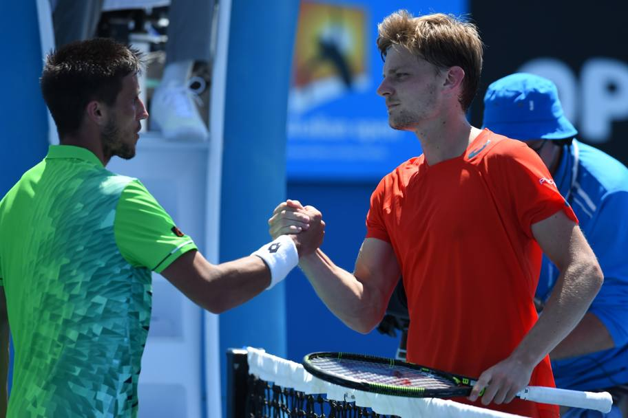 David Goffin vs Damir Dzumhur. (Afp)