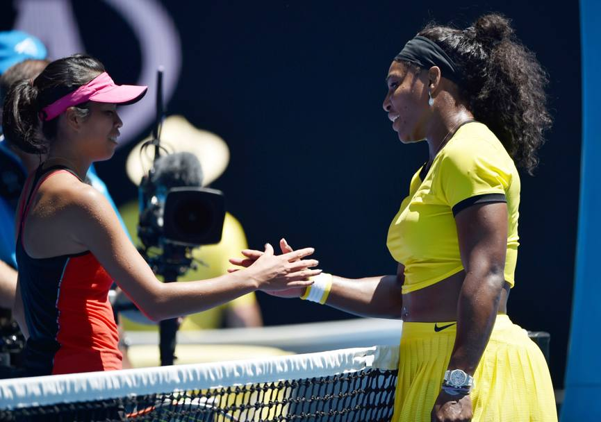 Serena Williams vs Hsieh Su-Wei. (Afp)