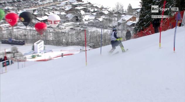 L'olimpionico di Vancouver, superate 5 porte dello slalom di Kitzbuehel cade e riporta la rottura del crociato del ginocchio sinistro. Probabilmente verrà operato già domani a Milano
