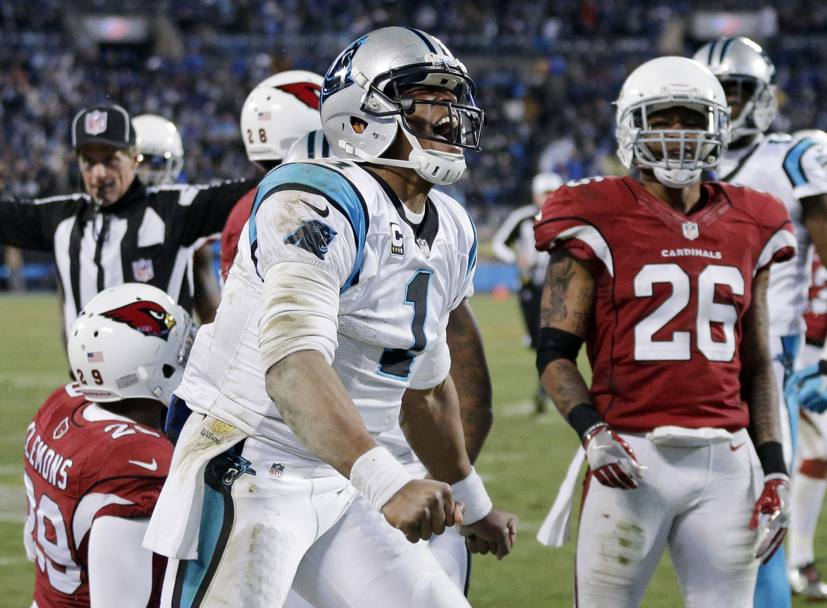 Momenti della partita tra Carolina Panthers e gli Arizona Cardinals. (Ap)
