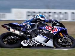 Sylvain Guintoli sulla Yamaha Sbk