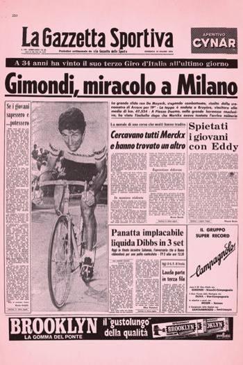 Felice Gimondi La Mia Leggenda Eddy Merckx Mi La Gazzetta Dello Sport