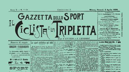 3 aprile 1896: la prima copia della Gazzetta dello Sport era verde.